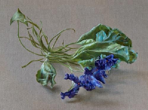 Veilchen (Blumenmalerei) / Violet (Flower painting)